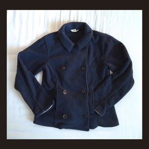 Girls sailor coat. Dark blue by Land's End.
